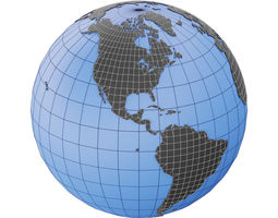 3D asset Earth Globe Mesh