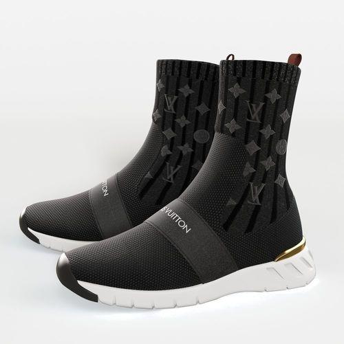 aftergame sneaker boot louis vuitton 3d model max obj mtl fbx 1