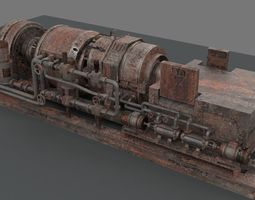 3D Machinery device rusted
