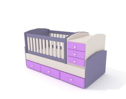Baby Bed 3D model game-ready