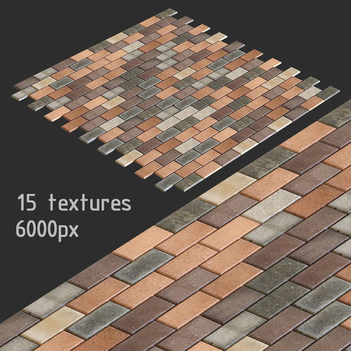 paving slabs and 15 high resolution textures multimap 3d model max obj mtl fbx 1