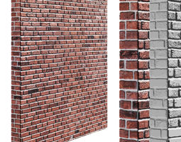 3D asset Seamless brick wall with high resolution 2