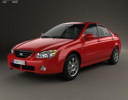 Kia Cerato sedan 2004 3D