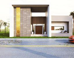 3D Modern house model 3dmax