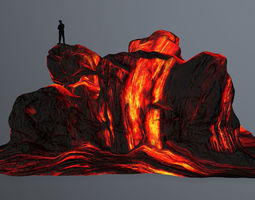 lava rocks 3D model VR / AR ready