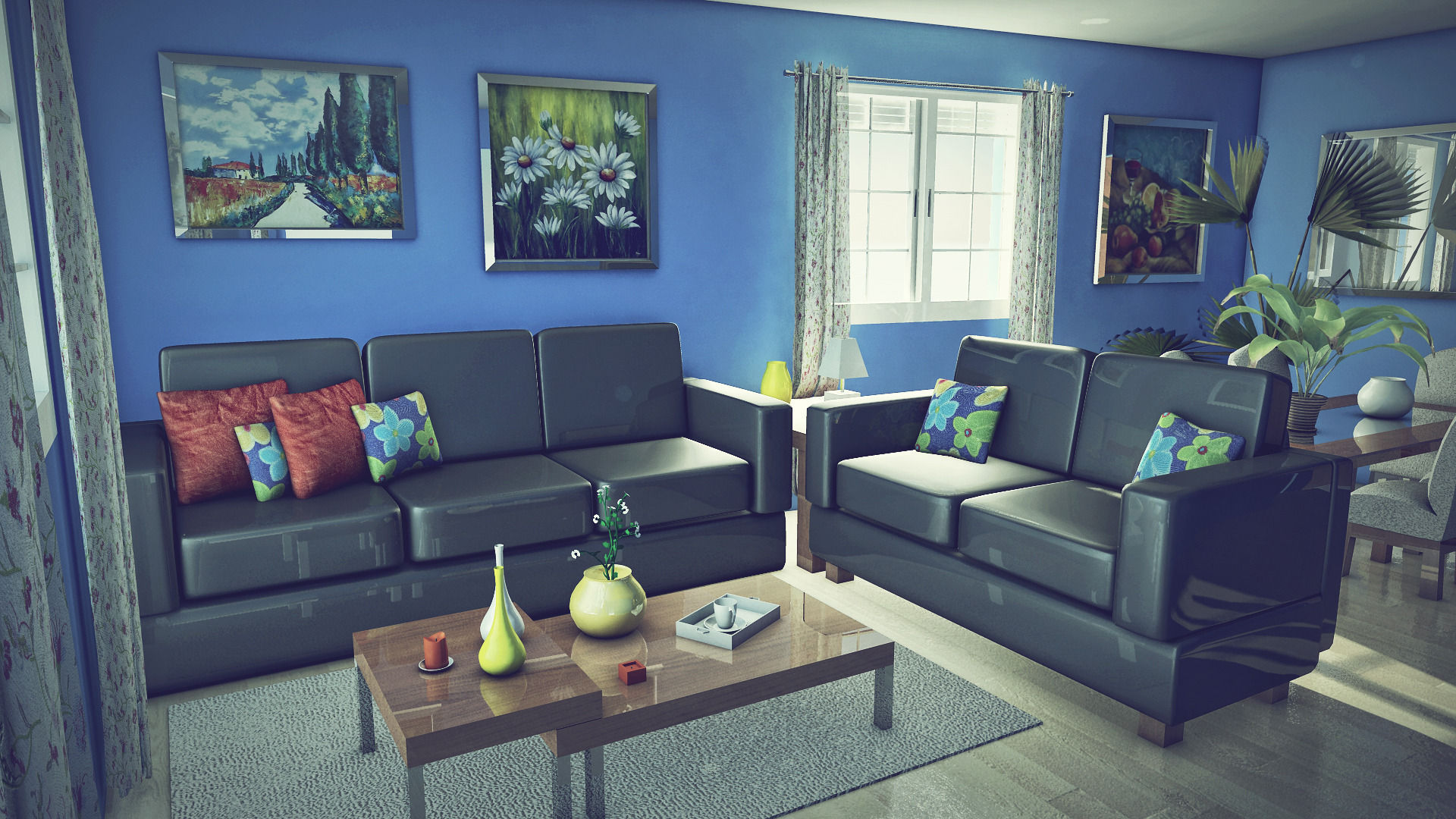 Living Room 3d Model Obj Fbx Ma Mb Mtl 1 ...