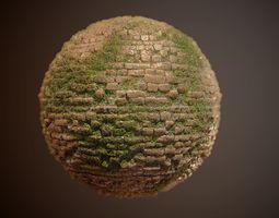 Brick Vines PBR SEAMLESS Texture 3D model vines