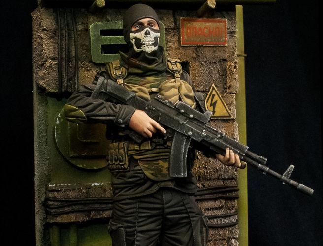 modern soldier with ak47 3d model obj mtl stl 1