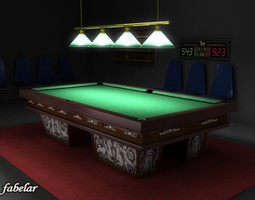 3D model Billiard room