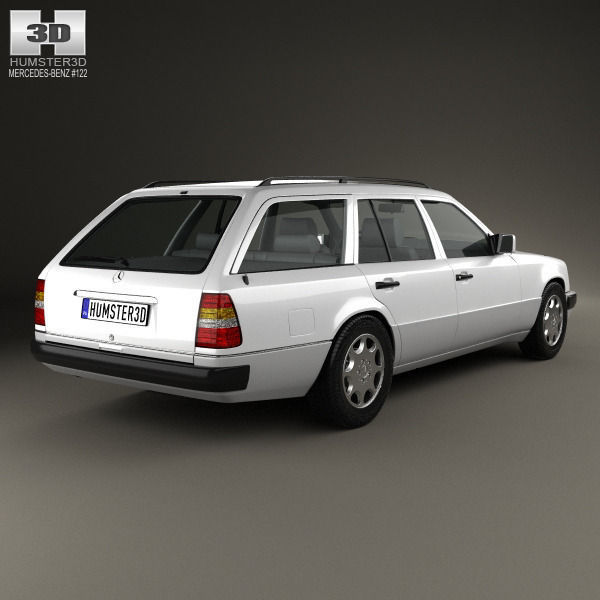 ... Mercedes Benz E Class Wagon 1993 3d Model Max Obj Mtl 3ds Fbx C4d ...