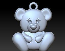 3D printable model lion bear pendant