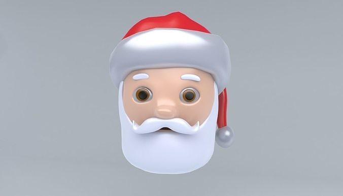santa claus icon 3d model max obj mtl 3ds fbx 1
