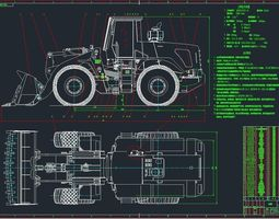 ZL50F loader excavator complete set of 3D model