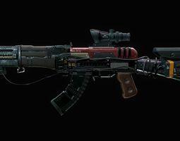 3D model Assault Rifle - AK Volkodav
