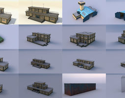 LP Military Buildings and Props Pack 3D