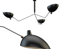 Serge Mouille Ceiling Lamp 3D