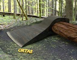 ORTAS AXE NO 9 REALISTIC GAME READY AXE WITH 3D model 1