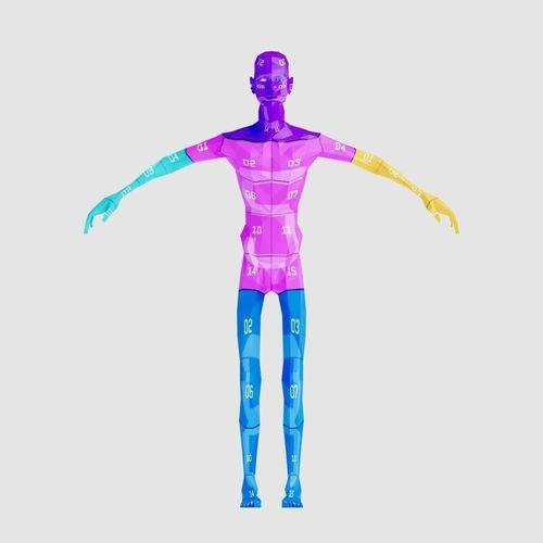 man thin 3d model rigged animated obj mtl 3ds fbx blend dae 1