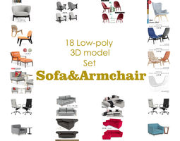Sofa and Armchair collection model