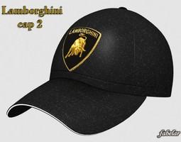 3D model Lamborghini cap 2