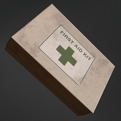 first aid kit box 3d model obj mtl fbx 1