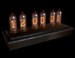 3D asset Nixie Tubes Clock Prop