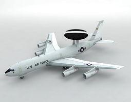 3D model E-3 Sentry AWACS Aircraft