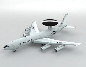 3D model E-3 Sentry AWACS Aircraft