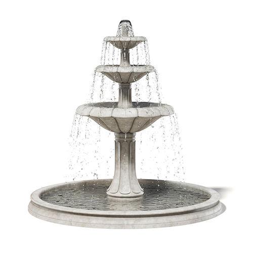 large fountain 3d model 3d model max obj mtl fbx c4d uasset 1