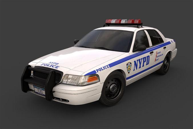 new york police car 3d model low-poly max obj mtl fbx tga 1