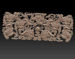 3D print model Bas-relief of dragons