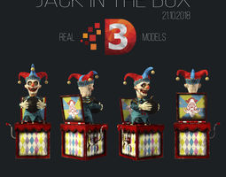 3D asset VR / AR ready Jack in the box 2018