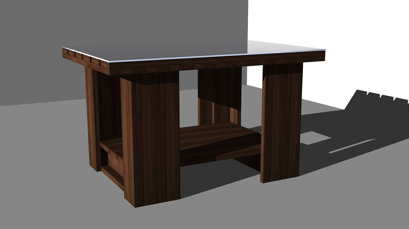 Coffee table design 2 3d model dwg for Table design 3d