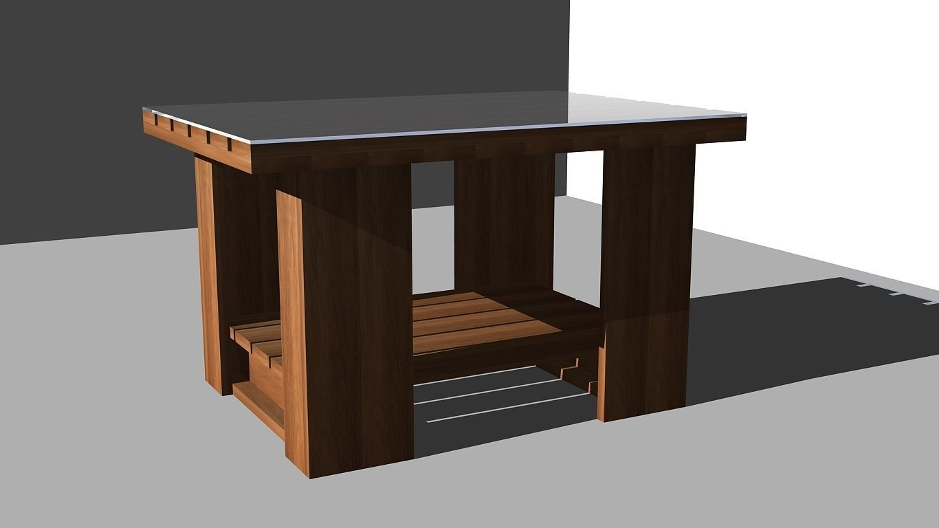 Coffee table design 2 3d model dwg for 3d table design