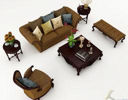 Sofa set parlour couch 3D
