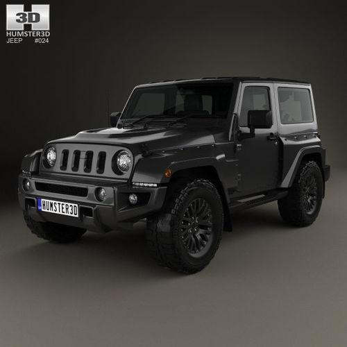 Jeep Wrangler Project Kahn Jc300 Chelsea Black Hawk 2 Door 2016 Model Max Obj