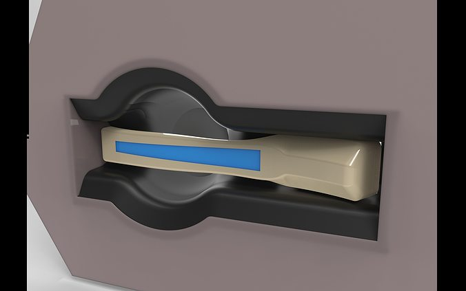 inside door handle 3d model stl 1