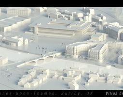 3D model Staines upon Thames Surrey UK