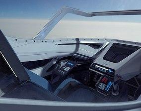 Scifi Futuristic Fighter Cockpit 3D model