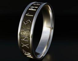 3D printable model Nordic Rune Ring viking