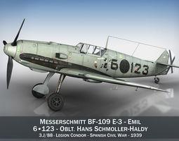 3D Messerschmitt - BF-109 E - 6-123