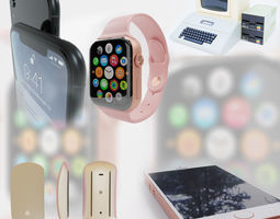3D Apple electronic device collection