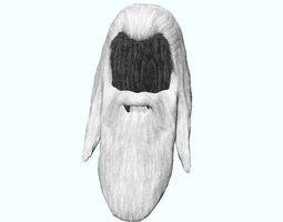 Man long hair and long facial hair 3D model