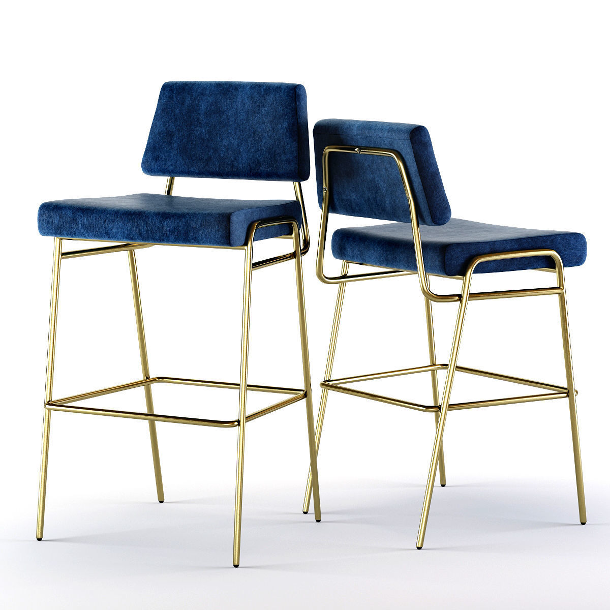 Groovy West Elm Wire Frame Bar And Counter Stools 3D Model Ibusinesslaw Wood Chair Design Ideas Ibusinesslaworg