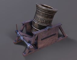 3D Mortar canon lowpoly