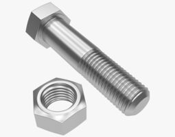 3D model Bolt and nut industry
