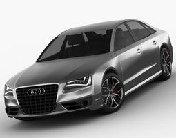 3D model Audi S8 2012