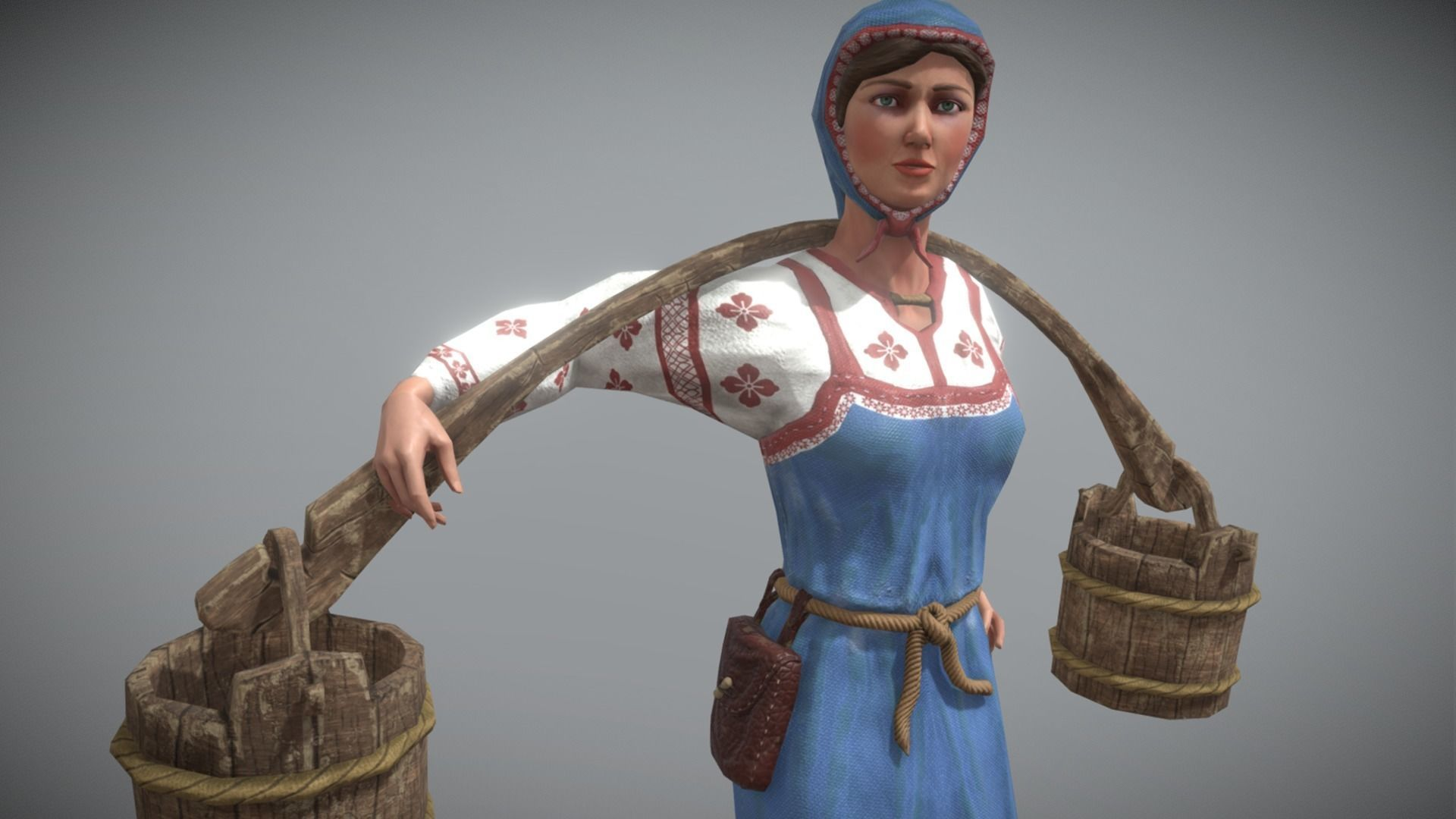 Peasant Villager Woman