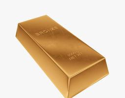 Ingot bronze 3D asset
