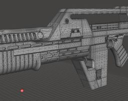 3D printable model Pulse Rifle Digital Files Complete with